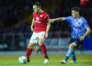 7 September 2019; David Cawley of Sligo Rovers in action against Aaron McGrath  of UCD during the Extra.ie FAI Cup Quarter-Final match between Sligo Rovers and UCD at The Showgrounds in Sligo. Photo by Oliver McVeigh/Sportsfile