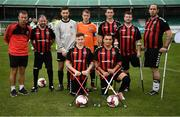 7 September 2019; The Bohemians team during the Megazyme Amputee Football League Cup Finals at Carlisle Grounds in Bray, Co Wicklow. Photo by Stephen McCarthy/Sportsfile