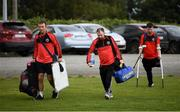 7 September 2019; Bohemians manager Ronan Croke and players arrive ahead of the Megazyme Amputee Football League Cup Finals at Carlisle Grounds in Bray, Co Wicklow. Photo by Stephen McCarthy/Sportsfile