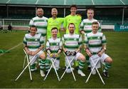 7 September 2019; The Shamrock Rovers team during the Megazyme Amputee Football League Cup Finals at Carlisle Grounds in Bray, Co Wicklow. Photo by Stephen McCarthy/Sportsfile
