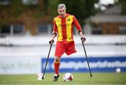 7 September 2019; Michal Lennon of Partick Thistle during the Megazyme Amputee Football League Cup Finals at Carlisle Grounds in Bray, Co Wicklow. Photo by Stephen McCarthy/Sportsfile