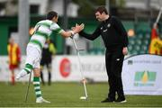 7 September 2019; Shamrock Rovers coach Stuart McSweeney and Alan Wall during the Megazyme Amputee Football League Cup Finals at Carlisle Grounds in Bray, Co Wicklow. Photo by Stephen McCarthy/Sportsfile