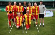7 September 2019; The Partick Thistle team prior to the Megazyme Amputee Football League Cup Finals at Carlisle Grounds in Bray, Co Wicklow. Photo by Stephen McCarthy/Sportsfile