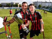 7 September 2019; Stefan Balog, left, and Neil Hoey of Bohemians celebrate following the Megazyme Amputee Football League Cup Finals at Carlisle Grounds in Bray, Co Wicklow. Photo by Stephen McCarthy/Sportsfile