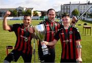 7 September 2019; Bohemians players celebrate following the Megazyme Amputee Football League Cup Finals at Carlisle Grounds in Bray, Co Wicklow. Photo by Stephen McCarthy/Sportsfile