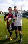 7 September 2019; Patrick Hickey, left, and Fergal Duffy of Bohemians following the Megazyme Amputee Football League Cup Finals at Carlisle Grounds in Bray, Co Wicklow. Photo by Stephen McCarthy/Sportsfile