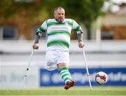 7 September 2019; Chris McElligott of Shamrock Rovers during the Megazyme Amputee Football League Cup Finals at Carlisle Grounds in Bray, Co Wicklow. Photo by Stephen McCarthy/Sportsfile