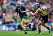 8 September 2019; Noelle Curtin of Limerick in action against Laura Collins of Kerry during the Liberty Insurance All-Ireland Premier Junior Camogie Championship Final match between Kerry and Limerick at Croke Park in Dublin. Photo by Piaras Ó Mídheach/Sportsfile