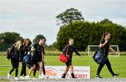 8 September 2019; Whitehall Rangers players arrive prior to their FAI Women's Intermediate Shield Final match against Manulla FC at Mullingar Athletic FC in Mullingar, Co. Westmeath. Photo by Seb Daly/Sportsfile