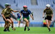 8 September 2019; Shauna D'Arcy of Limerick in action against Kerry players, from left, Michelle Costello, Aine O'Connor and Patrice Diggin during the Liberty Insurance All-Ireland Premier Junior Camogie Championship Final match between Kerry and Limerick at Croke Park in Dublin. Photo by Piaras Ó Mídheach/Sportsfile