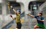 8 September 2019; Olivia Dineen of Kerry in action against Sarah Shanahan of Limerick during the Liberty Insurance All-Ireland Premier Junior Camogie Championship Final match between Kerry and Limerick at Croke Park in Dublin. Photo by Ramsey Cardy/Sportsfile