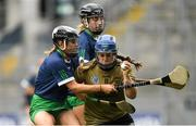 8 September 2019; Jackie Horgan of Kerry is tackled by Yvonne Lee of Limerick during the Liberty Insurance All-Ireland Premier Junior Camogie Championship Final match between Kerry and Limerick at Croke Park in Dublin. Photo by Ramsey Cardy/Sportsfile