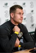 8 September 2019; James Collins during a Republic of Ireland press conference at the FAI National Training Centre in Abbotstown, Dublin. Photo by Stephen McCarthy/Sportsfile
