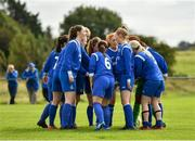 8 September 2019; Manulla FC players prior to the FAI Women's Intermediate Shield Final match between Manulla FC and Whitehall Rangers at Mullingar Athletic FC in Mullingar, Co. Westmeath. Photo by Seb Daly/Sportsfile