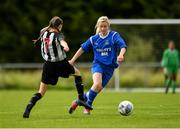 8 September 2019; Laura Regan of Manulla FC in action against Leah Farrell of Whitehall Rangers during the FAI Women's Intermediate Shield Final match between Manulla FC and Whitehall Rangers at Mullingar Athletic FC in Mullingar, Co. Westmeath. Photo by Seb Daly/Sportsfile