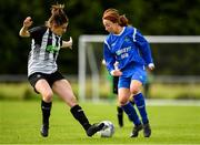 8 September 2019; Emma Cosgrave of Manulla FC in action against Aedin Hayes of Whitehall Rangers during the FAI Women's Intermediate Shield Final match between Manulla FC and Whitehall Rangers at Mullingar Athletic FC in Mullingar, Co. Westmeath. Photo by Seb Daly/Sportsfile