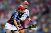 8 September 2019; Shiela McGrath of Westmeath in action against Louise Brennan of Galway during the Liberty Insurance All-Ireland Intermediate Camogie Championship Final match between Galway and Westmeath at Croke Park in Dublin. Photo by Piaras Ó Mídheach/Sportsfile