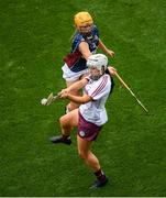 8 September 2019; Dervla Higgins of Galway in action against Megan Dowdall of Westmeath during the Liberty Insurance All-Ireland Intermediate Camogie Championship Final match between Galway and Westmeath at Croke Park in Dublin. Photo by Ramsey Cardy/Sportsfile