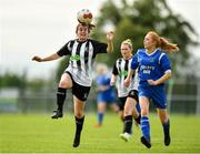 8 September 2019; Aedin Hayes of Whitehall Rangers in action against Tracey Hall of Manulla FC during the FAI Women's Intermediate Shield Final match between Manulla FC and Whitehall Rangers at Mullingar Athletic FC in Mullingar, Co. Westmeath. Photo by Seb Daly/Sportsfile