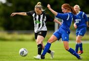 8 September 2019; Katrina Moore of Whitehall Rangers in action against Emma Cosgrave of Manulla FC during the FAI Women's Intermediate Shield Final match between Manulla FC and Whitehall Rangers at Mullingar Athletic FC in Mullingar, Co. Westmeath. Photo by Seb Daly/Sportsfile
