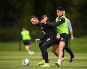 8 September 2019; Shane Duffy, left, and Callum O'Dowda during a Republic of Ireland Squad Training session at FAI National Training Centre in Abbotstown, Dublin. Photo by Stephen McCarthy/Sportsfile