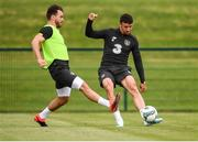 8 September 2019; Enda Stevens and Scott Hogan, left, during a Republic of Ireland Squad Training session at FAI National Training Centre in Abbotstown, Dublin. Photo by Stephen McCarthy/Sportsfile