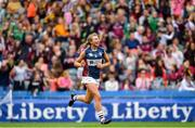 8 September 2019; Megan Dowdall of Westmeath celebrates following the Liberty Insurance All-Ireland Intermediate Camogie Championship Final match between Galway and Westmeath at Croke Park in Dublin. Photo by Ramsey Cardy/Sportsfile