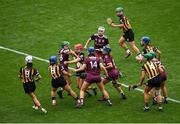 8 September 2019; Both teams battle for possession during the Liberty Insurance All-Ireland Senior Camogie Championship Final match between Galway and Kilkenny at Croke Park in Dublin. Photo by Ramsey Cardy/Sportsfile