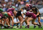 8 September 2019; Players from both teams fight for possession during the Liberty Insurance All-Ireland Senior Camogie Championship Final match between Galway and Kilkenny at Croke Park in Dublin. Photo by Piaras Ó Mídheach/Sportsfile