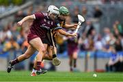 8 September 2019; Collette Dormer of Kilkenny in action against Ailish O'Reilly of Galway during the Liberty Insurance All-Ireland Senior Camogie Championship Final match between Galway and Kilkenny at Croke Park in Dublin. Photo by Piaras Ó Mídheach/Sportsfile
