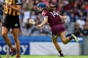 8 September 2019; Niamh Hanniffy of Galway celebrates scoring her side's second goal the Liberty Insurance All-Ireland Senior Camogie Championship Final match between Galway and Kilkenny at Croke Park in Dublin. Photo by Piaras Ó Mídheach/Sportsfile