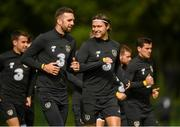 8 September 2019; Jeff Hendrick, right, and Shane Duffy during a Republic of Ireland training session at the FAI National Training Centre in Abbotstown, Dublin. Photo by Stephen McCarthy/Sportsfile