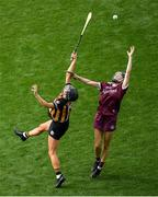 8 September 2019; Carrie Dolan of Galway in action against Anna Farrell of Kilkenny during the Liberty Insurance All-Ireland Senior Camogie Championship Final match between Galway and Kilkenny at Croke Park in Dublin. Photo by Ramsey Cardy/Sportsfile