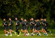 8 September 2019; Republic of Ireland players during a training session at the FAI National Training Centre in Abbotstown, Dublin. Photo by Stephen McCarthy/Sportsfile