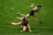 8 September 2019; Niamh Hanniffy of Galway in action against Katie Power of Kilkenny during the Liberty Insurance All-Ireland Senior Camogie Championship Final match between Galway and Kilkenny at Croke Park in Dublin. Photo by Ramsey Cardy/Sportsfile