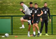 8 September 2019; Seamus Coleman and assistant coach Robbie Keane during a Republic of Ireland training session at the FAI National Training Centre in Abbotstown, Dublin. Photo by Stephen McCarthy/Sportsfile