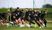 8 September 2019; Players, from left, John Egan, Shane Duffy, Alan Browne, Conor Hourihane and Ronan Curtis during a Republic of Ireland training session at the FAI National Training Centre in Abbotstown, Dublin. Photo by Stephen McCarthy/Sportsfile