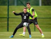 8 September 2019; Ronan Curtis and Kevin Long, right, during a Republic of Ireland training session at the FAI National Training Centre in Abbotstown, Dublin. Photo by Stephen McCarthy/Sportsfile