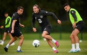 8 September 2019; Jeff Hendrick with Seamus Coleman, left, and John Egan, right, during a Republic of Ireland training session at the FAI National Training Centre in Abbotstown, Dublin. Photo by Stephen McCarthy/Sportsfile