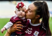8 September 2019; Rebecca Hennelly of Galway with her niece 7 month old Anna O'Reilly following the Liberty Insurance All-Ireland Senior Camogie Championship Final match between Galway and Kilkenny at Croke Park in Dublin. Photo by Ramsey Cardy/Sportsfile