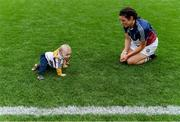 8 September 2019; Joanne McCormack of Westmeath with her son Shay after the Liberty Insurance All-Ireland Intermediate Camogie Championship Final match between Galway and Westmeath at Croke Park in Dublin. Photo by Piaras Ó Mídheach/Sportsfile
