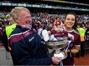 8 September 2019; Rebecca Hennelly of Galway with her father Gerry and 7 month old niece Anna O'Reilly following the Liberty Insurance All-Ireland Senior Camogie Championship Final match between Galway and Kilkenny at Croke Park in Dublin. Photo by Ramsey Cardy/Sportsfile