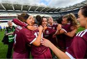 8 September 2019; Galway players celebrate following the Liberty Insurance All-Ireland Senior Camogie Championship Final match between Galway and Kilkenny at Croke Park in Dublin. Photo by Ramsey Cardy/Sportsfile