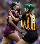 8 September 2019; Niamh Kilkenny of Galway in action against Collette Dormer of Kilkenny during the Liberty Insurance All-Ireland Senior Camogie Championship Final match between Galway and Kilkenny at Croke Park in Dublin. Photo by Piaras Ó Mídheach/Sportsfile
