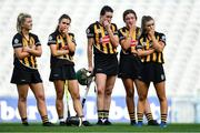 8 September 2019; Dejected Kilkenny players, from left, Danielle Morrissey, Katie Power, Denise Gaule, Áine Phean, and Michelle Teehan after the Liberty Insurance All-Ireland Senior Camogie Championship Final match between Galway and Kilkenny at Croke Park in Dublin. Photo by Piaras Ó Mídheach/Sportsfile