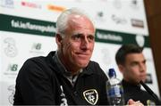 9 September 2019; Republic of Ireland manager Mick McCarthy during a press conference at the FAI National Training Centre in Abbotstown, Dublin. Photo by Stephen McCarthy/Sportsfile
