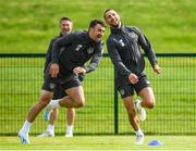 9 September 2019; Conor Hourihane, right, and Enda Stevens during a Republic of Ireland training session at the FAI National Training Centre in Abbotstown, Dublin. Photo by Stephen McCarthy/Sportsfile