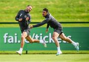9 September 2019; Conor Hourihane, left, and Enda Stevens during a Republic of Ireland training session at the FAI National Training Centre in Abbotstown, Dublin. Photo by Stephen McCarthy/Sportsfile