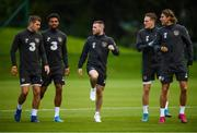 9 September 2019; Jack Byrne, centre, during a Republic of Ireland training session at the FAI National Training Centre in Abbotstown, Dublin. Photo by Stephen McCarthy/Sportsfile