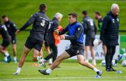 9 September 2019; Seamus Coleman and Conor Hourihane, left, during a Republic of Ireland training session at the FAI National Training Centre in Abbotstown, Dublin. Photo by Stephen McCarthy/Sportsfile